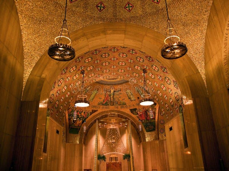 Washington DC de oro del concepto inmaculado de la capilla fotos de archivo