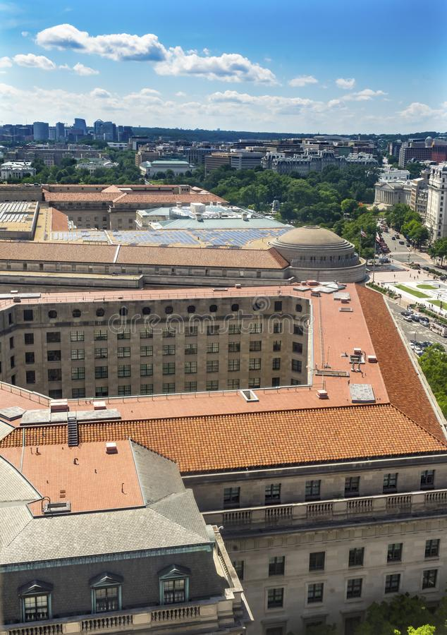 Washington DC de Pennsylvania Avenue de las agencias de estatal del Hacienda de los E.E.U.U. de la Casa Blanca foto de archivo