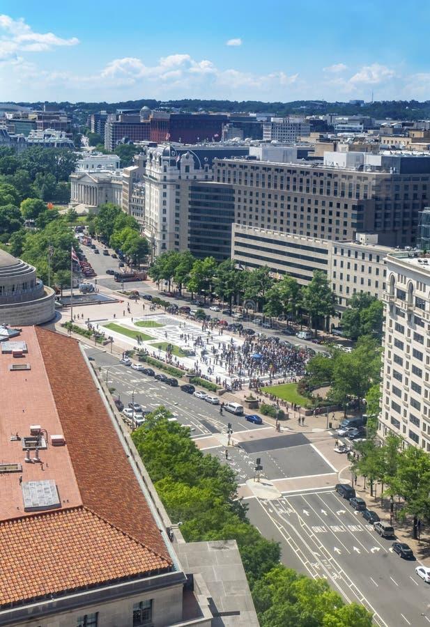 Washington DC de Pennsylvania Avenue de las agencias de estatal del Hacienda de los E.E.U.U. de la Casa Blanca fotos de archivo