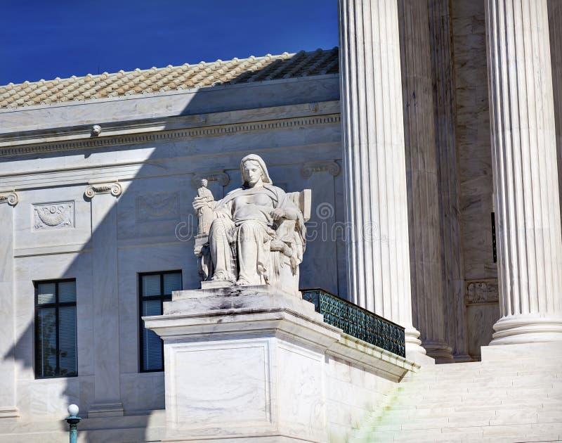 Washington DC de Statue Capitol Hill del juez del Tribunal Supremo de los E.E.U.U. imagenes de archivo