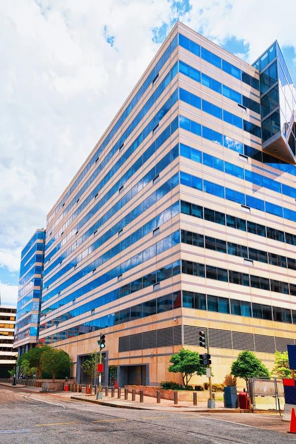 Washington DC del edificio del Fondo Monetario Internacional foto de archivo