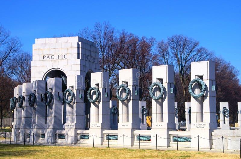 Washington DC del monumento de la Segunda Guerra Mundial fotografía de archivo libre de regalías
