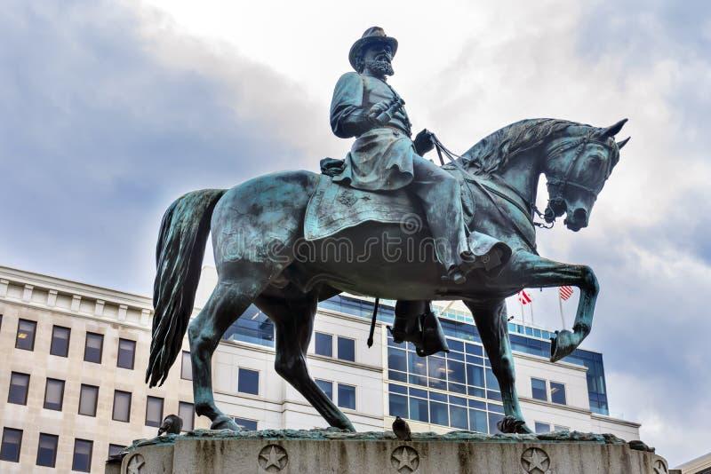 Washington DC del quadrato di generale James Mcpherson Civil War Memorial Mcpherson immagini stock