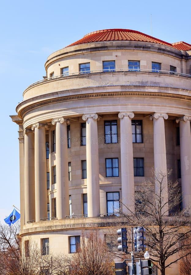 Washington DC della bandiera della Commissione commerciale federale FTC degli Stati Uniti fotografia stock