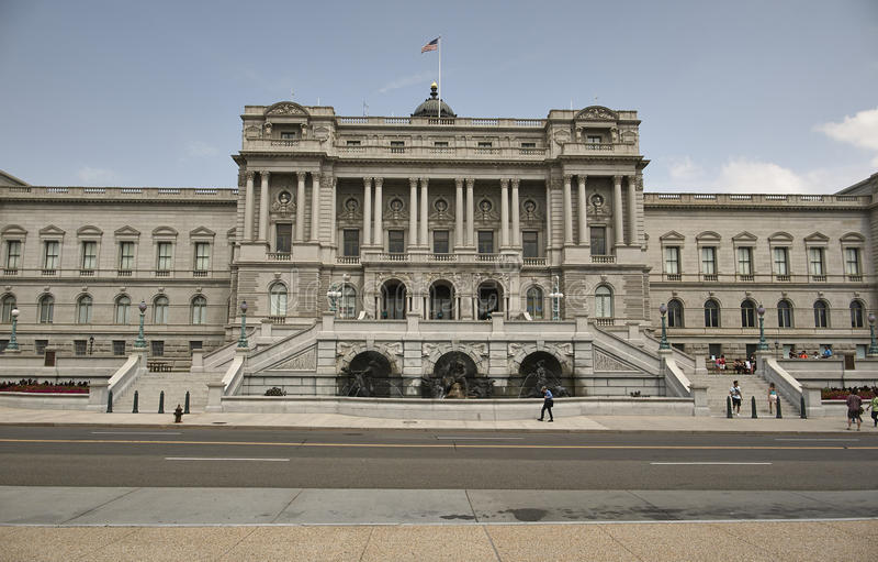 Washington DC della Biblioteca del Congresso fotografie stock