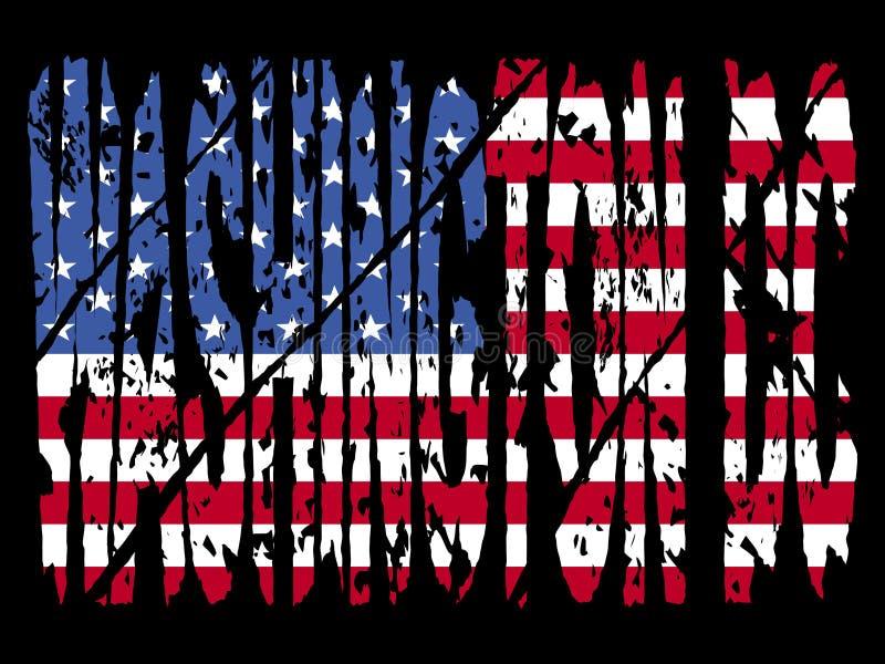 Washington DC di Grunge con la bandierina royalty illustrazione gratis