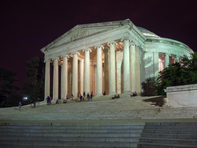 Washington DC District of Columbia [Förenta staterna USA, Thomas Jefferson Memorial, amerikansk unionens fäder, arkivbilder
