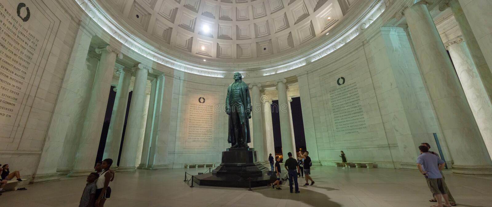 Washington DC, District of Columbia, Summer 2018 [United States US, Thomas Jefferson Memorial, American Founding Fathers,. Declaration of independence stock photos