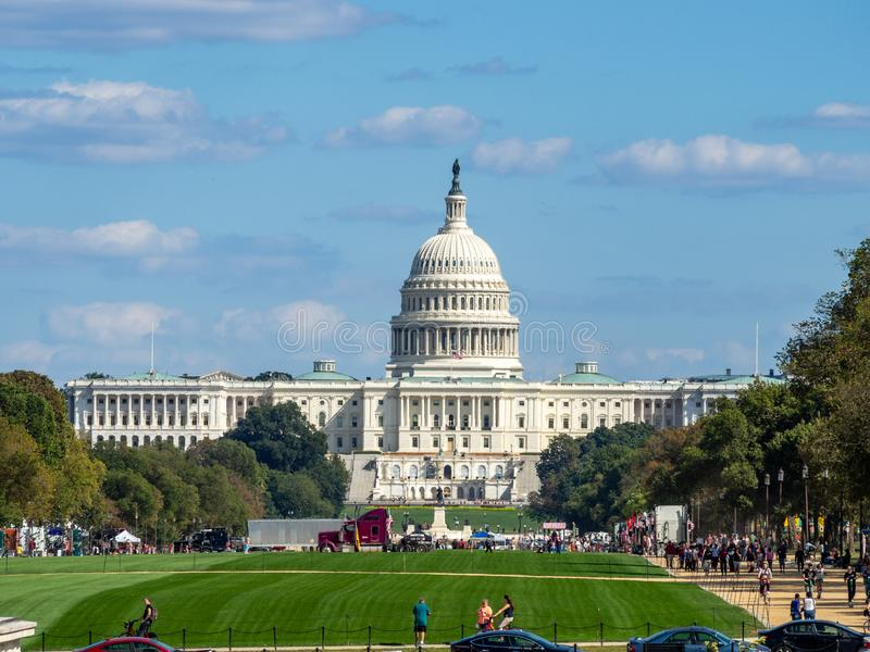 Washington DC, District of Columbia [United States US Capitol Building, architecture detail].  royalty free stock photography