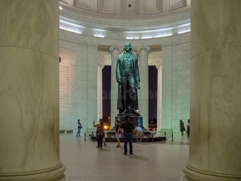 Washington DC, Distrito de Columbia [Estados Unidos de América, Memorial Thomas Jefferson, Padres Fundadores de Estados Unidos fotografía de archivo
