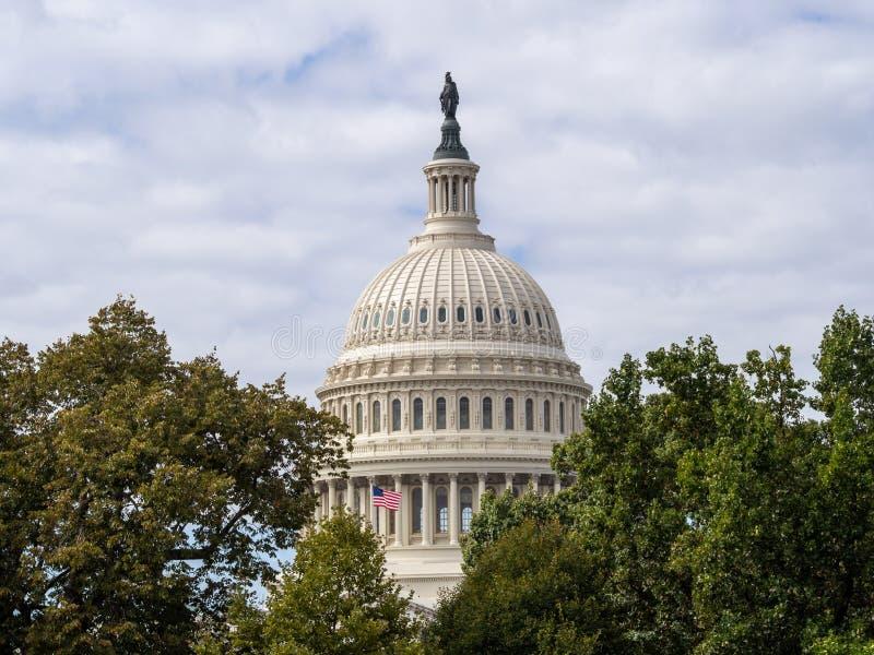 Washington DC, Distrito de Columbia [U.U. Capitólio Building, detalhes sobre arquitetura] fotografia de stock