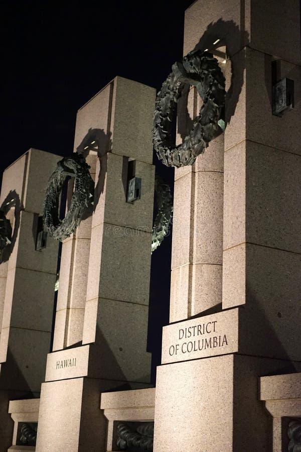 Washington DC do memorial da segunda guerra mundial foto de stock
