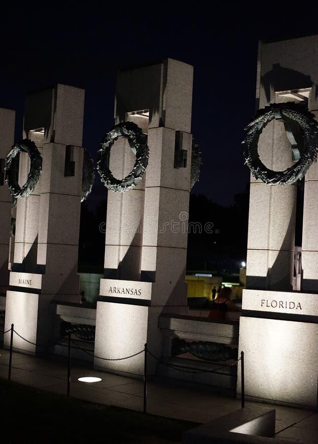 Washington DC do memorial da segunda guerra mundial fotografia de stock royalty free