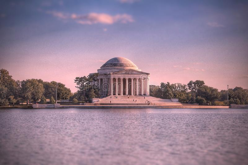 Washington DC do memorial de Thomas Jefferson imagem de stock