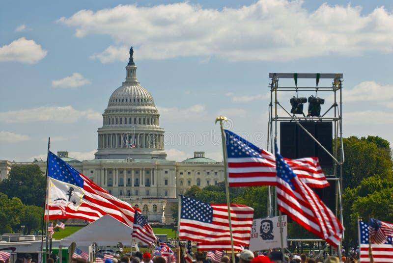 Washington DC do protesto da guerra foto de stock royalty free