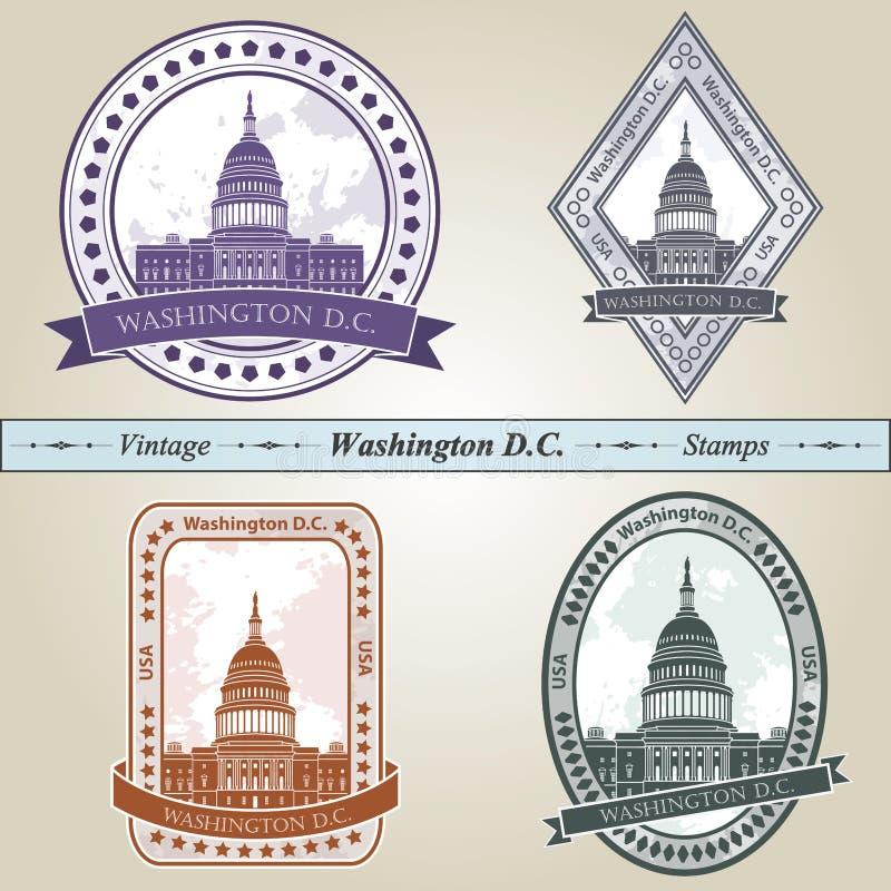 Washington DC do selo do vintage ilustração do vetor
