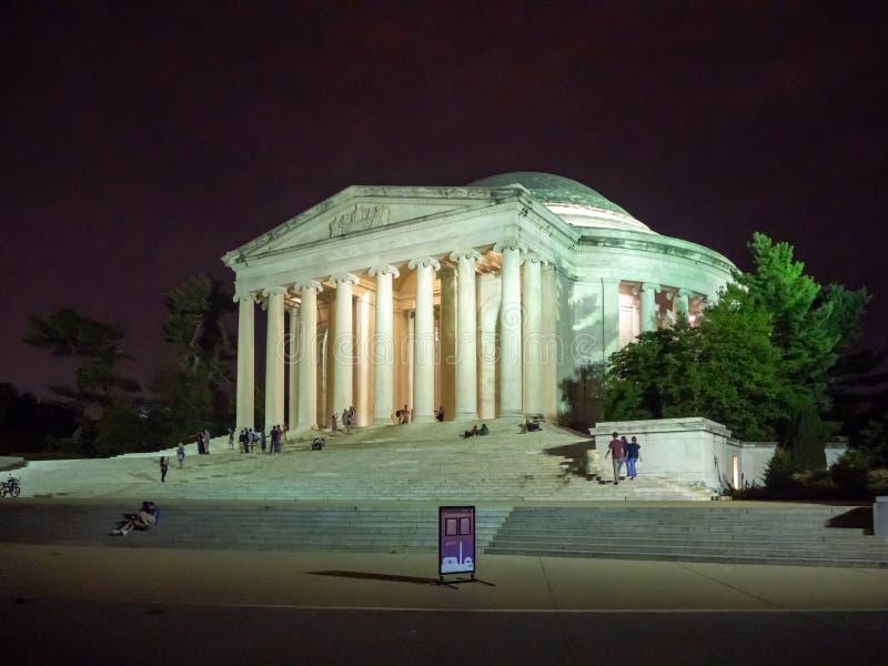 Washington DC, dystrykt kolumbii [Stany Zjednoczone USA, Thomas Jefferson pomnik, amerykanin Zakłada ojców, obraz stock