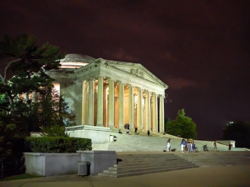 Washington DC, dystrykt kolumbii [Stany Zjednoczone USA, Thomas Jefferson pomnik, amerykanin Zakłada ojców, zdjęcia royalty free