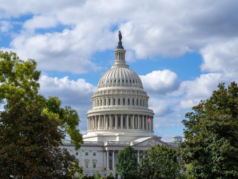 Washington DC, Dystrykt Kolumbii [United States US Capitol Building, dane architektoniczne] zdjęcia stock