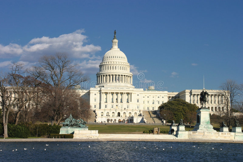Washington DC, edificio del capitolio de los E.E.U.U. foto de archivo libre de regalías