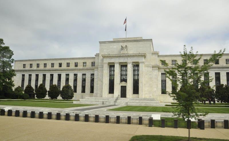 Washington DC, el 5 de agosto: Edificio de Federal Reserve del americano de Washington District de Columbia fotografía de archivo libre de regalías