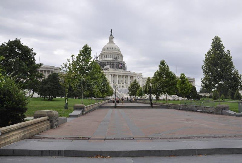 Washington DC, el 5 de agosto: Edificio del capitolio de Washington District de Columbia fotos de archivo libres de regalías