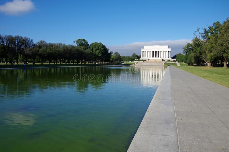 Washington DC, Estados Unidos - 27 de setembro de 2017: Lincoln Memorial na alameda nacional Washington DC foto de stock