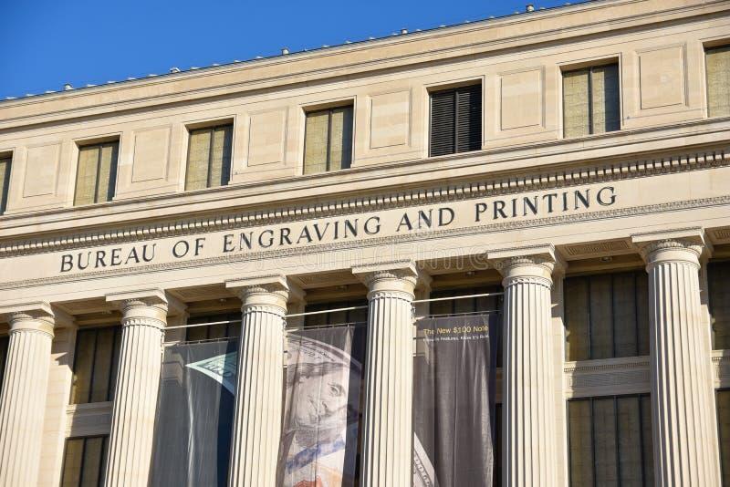 Washington DC, Etats-Unis Vue de rue et bâtiment de ville de Washington photographie stock
