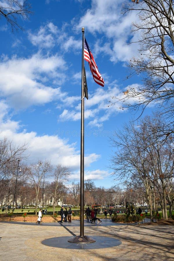 Washington DC, EUA Veteranos de Vietnam memoráveis fotos de stock royalty free