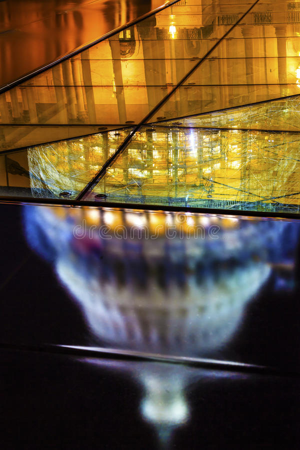 Washington DC för natt för konstruktion för sida för USA-Kapitoliumnorr arkivbild