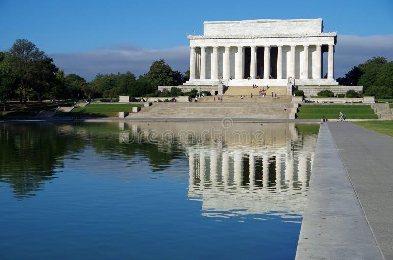Washington DC Förenta staterna - September 27, 2017: Lincoln Memorial på den nationella gallerian dc washington royaltyfria bilder
