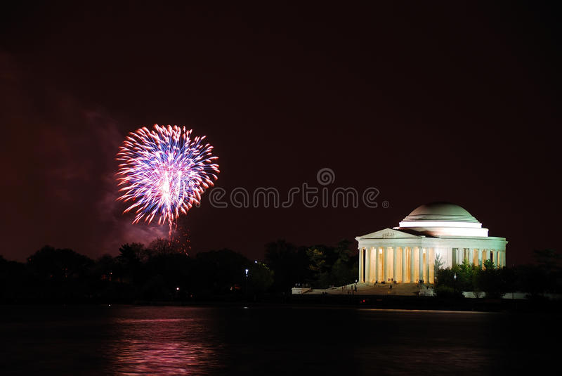 Washington DC fireworks show royalty free stock photography