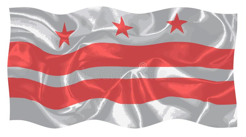 Washington DC flaga ilustracji