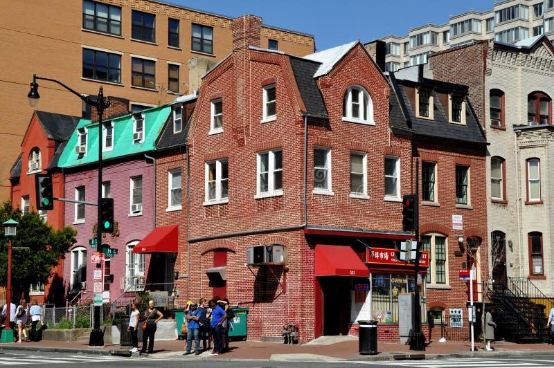 Washington, DC: Gebäude in Chinatown lizenzfreie stockfotografie