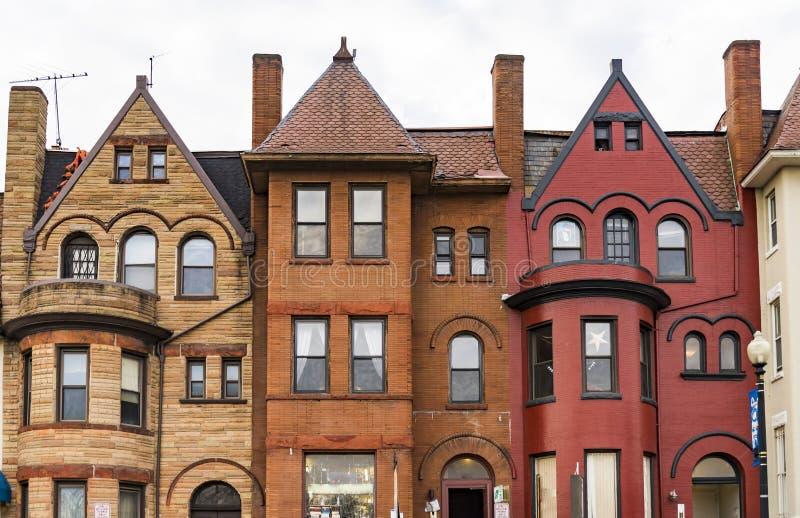 Washington DC, het oude historische district van Georgetown, de V.S. royalty-vrije stock afbeelding
