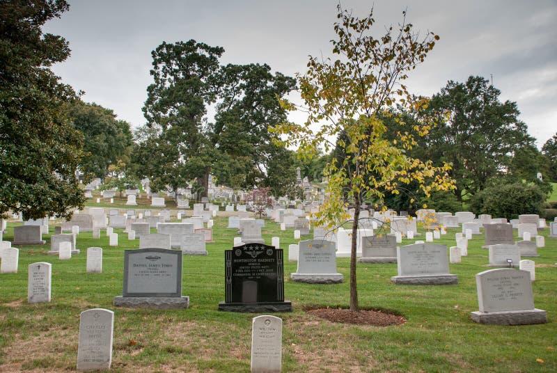 Washington DC, hoofdstad van de Verenigde Staten Arlington Nationale Begraafplaats stock fotografie
