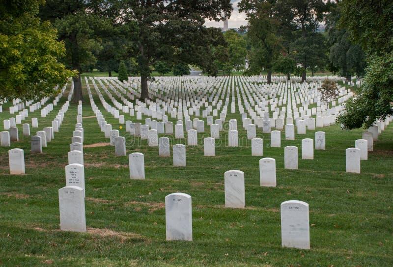 Washington DC, hoofdstad van de Verenigde Staten Arlington Nationale Begraafplaats stock afbeeldingen