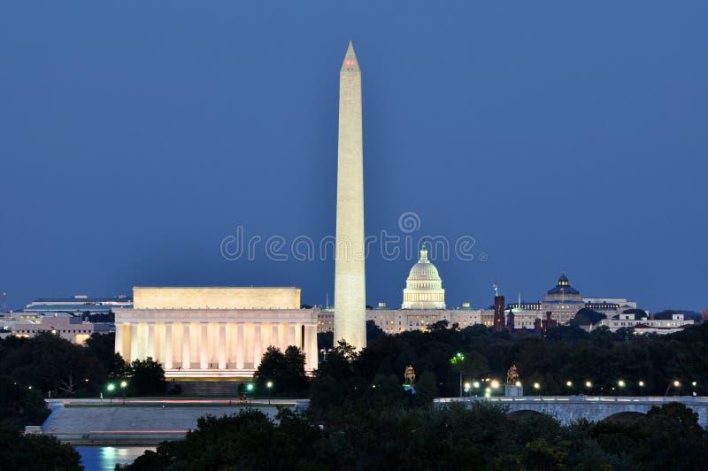 Washington DC-horisont royaltyfri foto