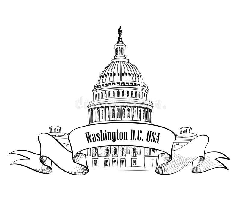 Washington DC ikona ilustracji