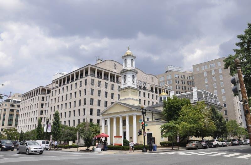 Washington DC, il 5 luglio 2017: Chiesa episcopale del ` s di St John da Washington Columbia District in U.S.A. fotografie stock libere da diritti