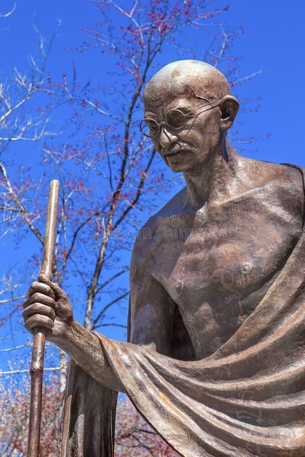 Washington DC indien de rangée d'ambassade d'ambassade de statue de Gandhi photographie stock