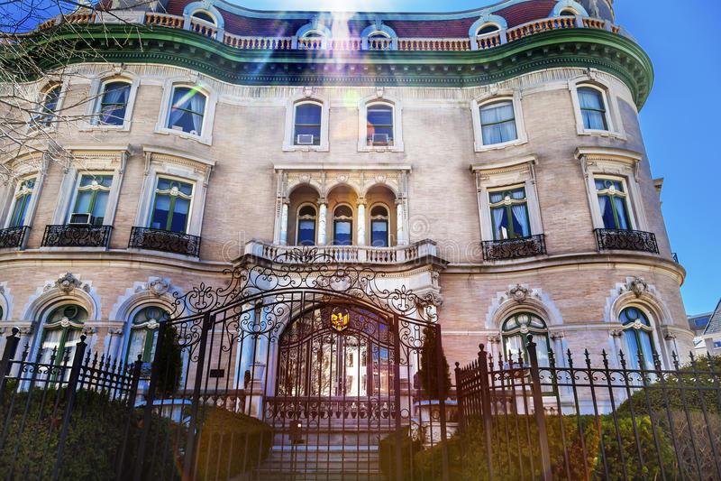 Washington DC indonésio da avenida de Massachusetts da embaixada fotografia de stock