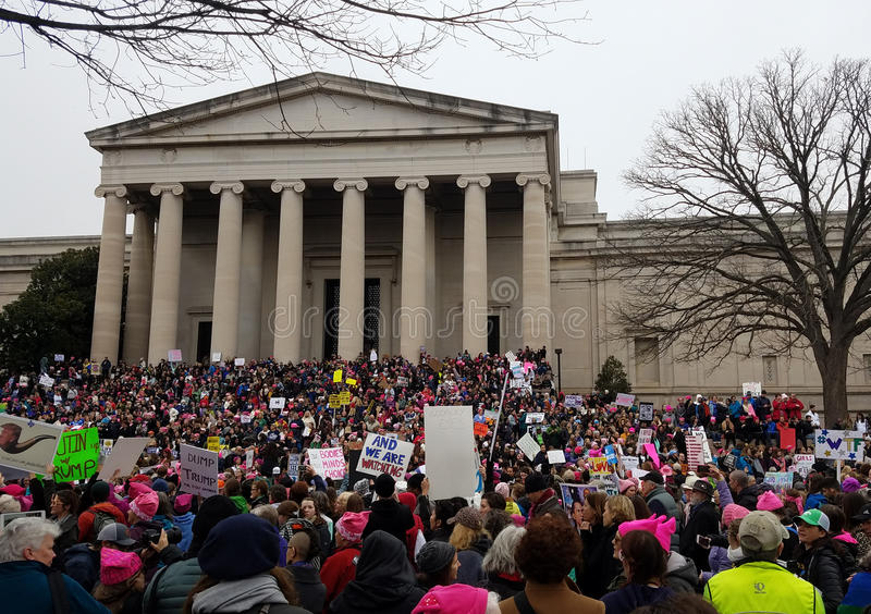 WASHINGTON DC - JAN 21, 2017: Women`s March on Washington royalty free stock photos