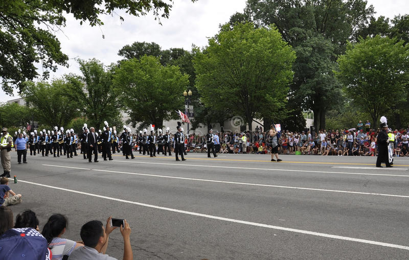 Washington DC, july 4th 2017: Americans in the 4th July Parade from Washington DC in USA royalty free stock photos
