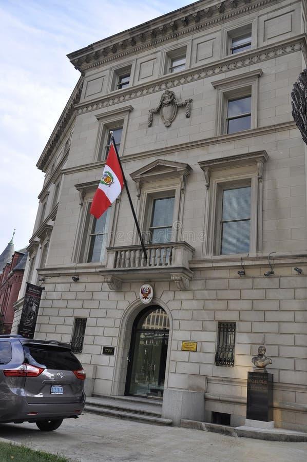 Washington DC, july 5th 2017: Embassy of Peru Building from Washington Columbia District USA royalty free stock image