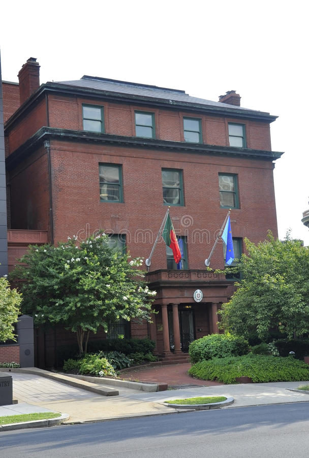 Washington DC, july 5th 2017: Embassy of Portugal Building from Washington Columbia District USA royalty free stock photo
