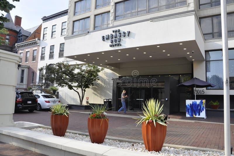 Washington DC, july 5th 2017: Embassy Row Hotel from Washington Columbia District in USA stock image