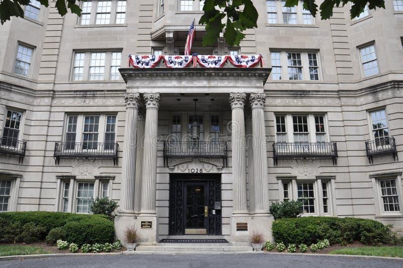 Washington DC, July 4th 2017: Historic Building entrance from Washington District of Columbia USA stock photo
