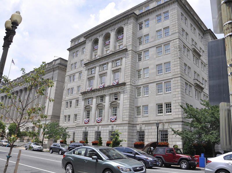 Washington DC, july 5th 2017: Historic Building from Washington Columbia District in USA stock photography