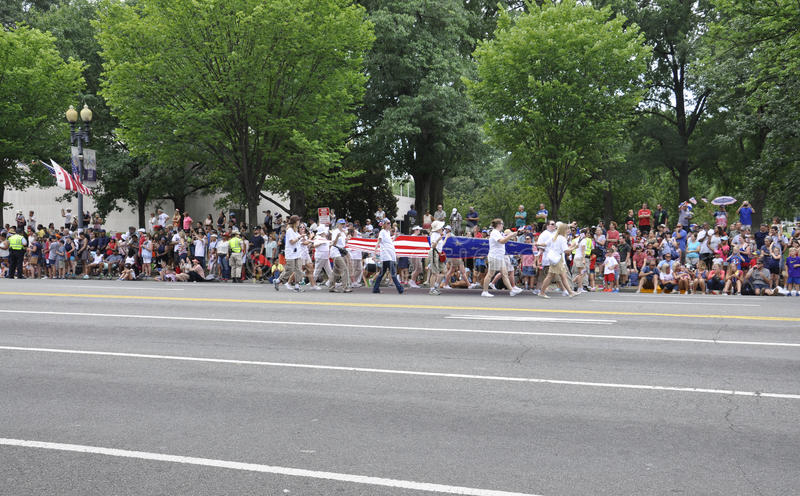 Washington DC, July 4th 2017: The Parade for the 4th July Parade from Washington District of Columbia USA stock photography